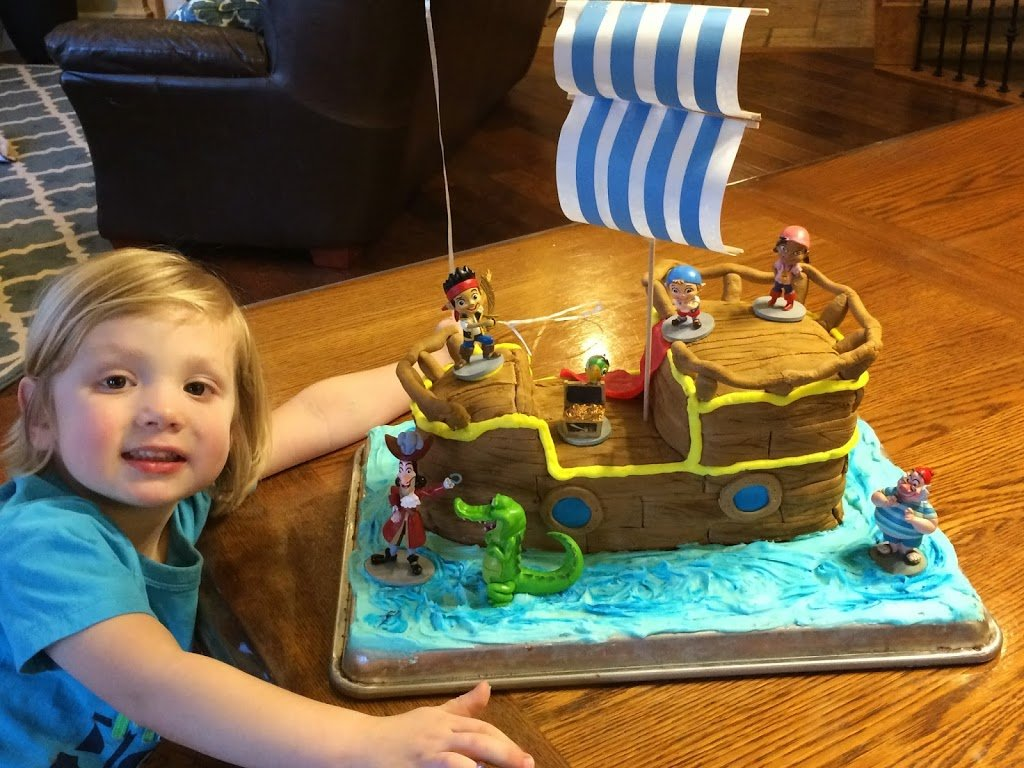 Stupendous Jake And The Neverland Pirates Birthday Cake Planning Playtime Funny Birthday Cards Online Inifodamsfinfo