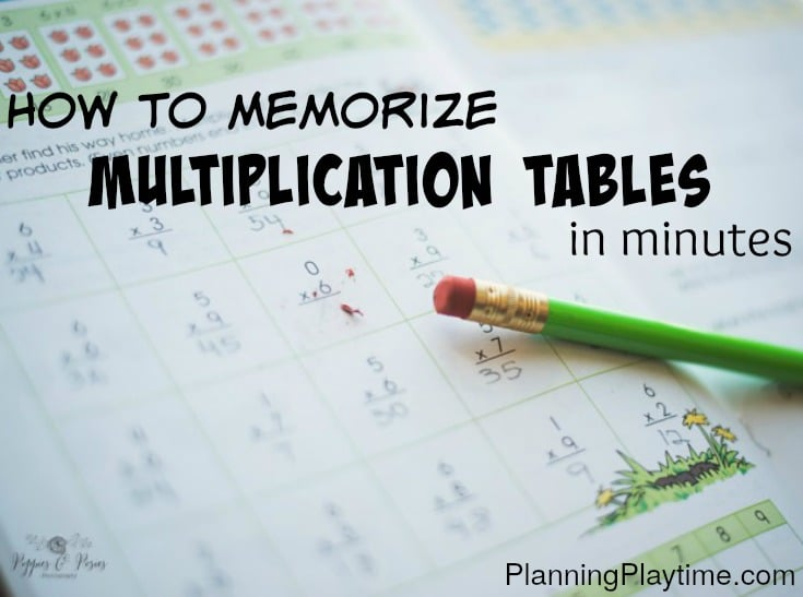 The Easy Way to Memorize Multiplication Tables
