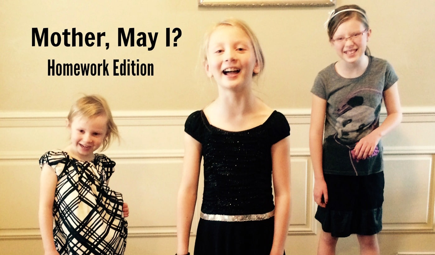 Homework: Tip of the Week – Mother, May I Homework Edition