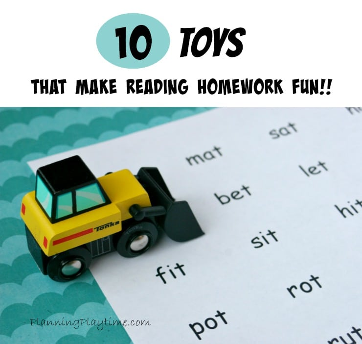10 Toys that Make Reading Homework fun