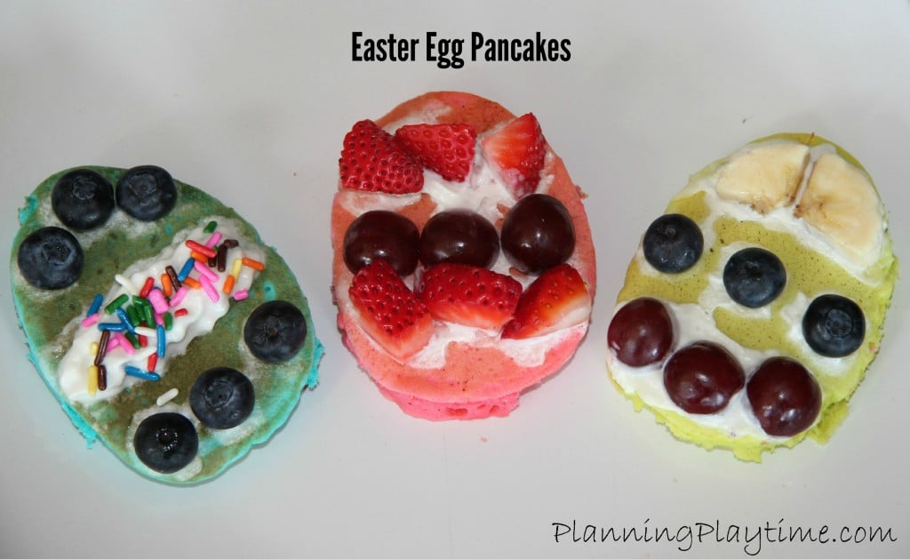 Decorated Easter Egg pancakes