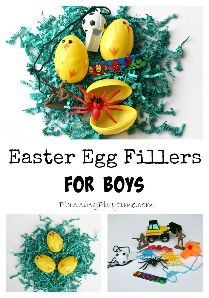 Easter Egg Fillers For Boys Collage W Name