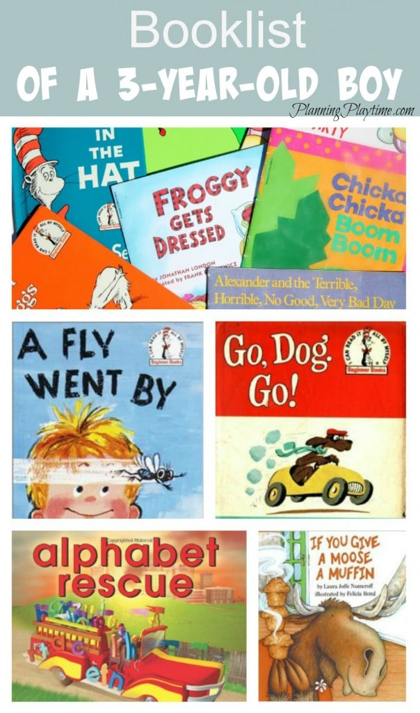 Booklist of a 3 Year Old Boy