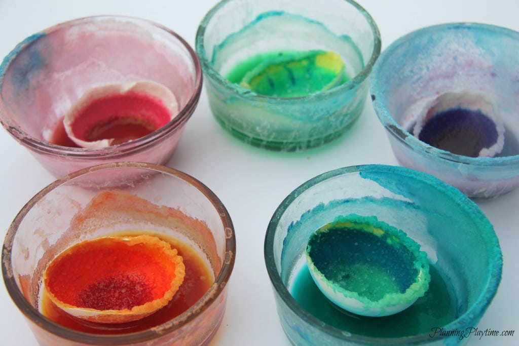 DIY Grow your own Crystal Geodes science experiment for kids