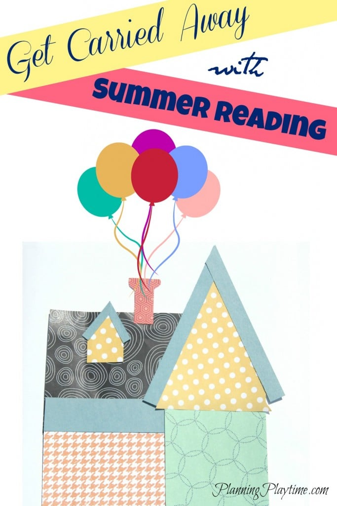 Summer Reading Chart Get Carried Away - Each time they complete a book, they write the title on a paper balloon and place it atop the house.