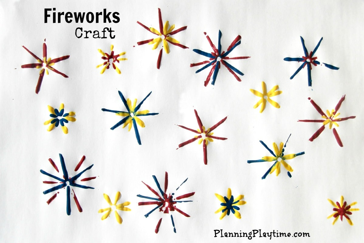 4th of July Craft  Fireworks Painting 2