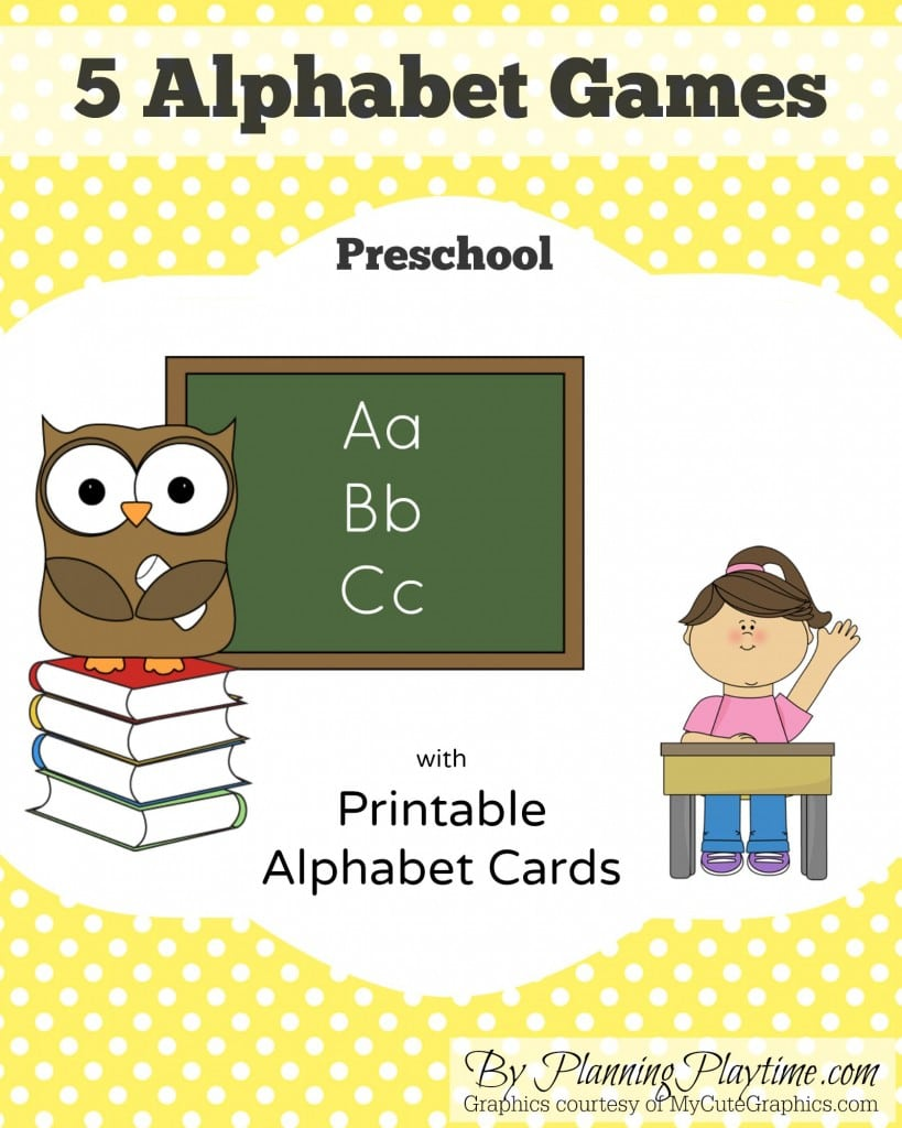 Fun, free alphabet letter games for preschool