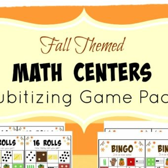 Subitizing Games for Early Math Practice