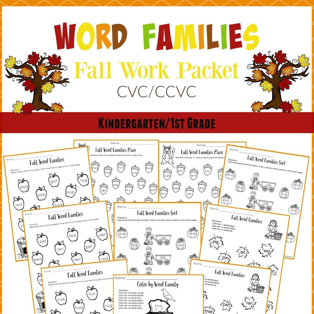 math worksheet : printable worksheets  planning playtime : Fall Kindergarten Worksheets