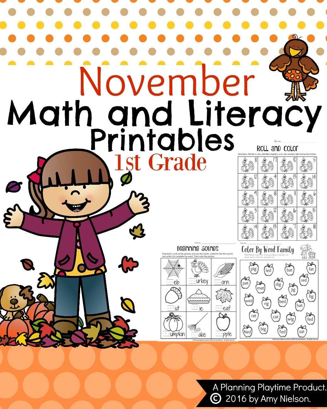 1st Grade Math and Literacy Worksheets with a Freebie! - Planning ...