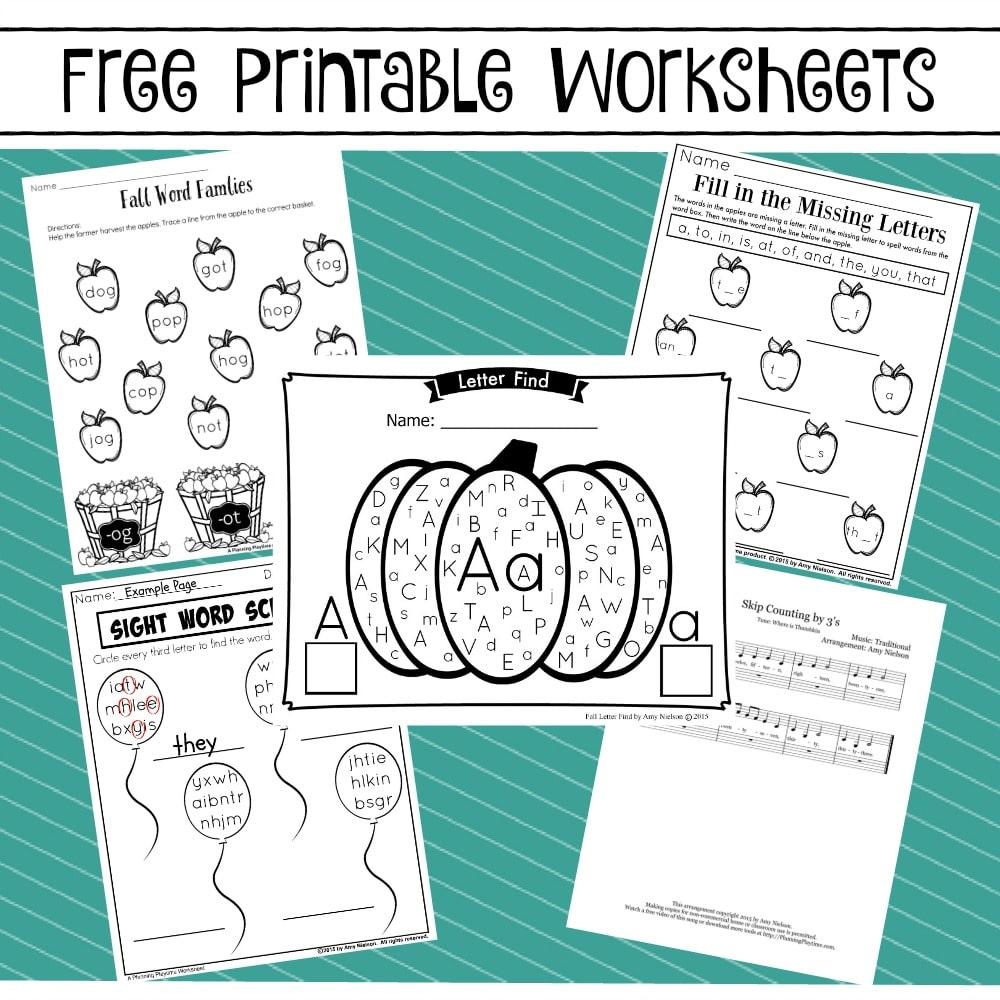 Free Printable Worksheets - Planning Playtime