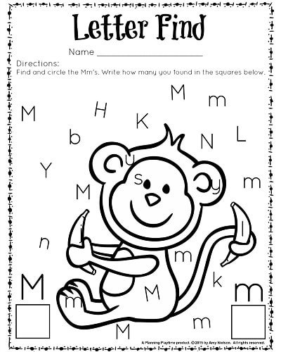 cute letter find worksheets with a freebie planning playtime. Black Bedroom Furniture Sets. Home Design Ideas