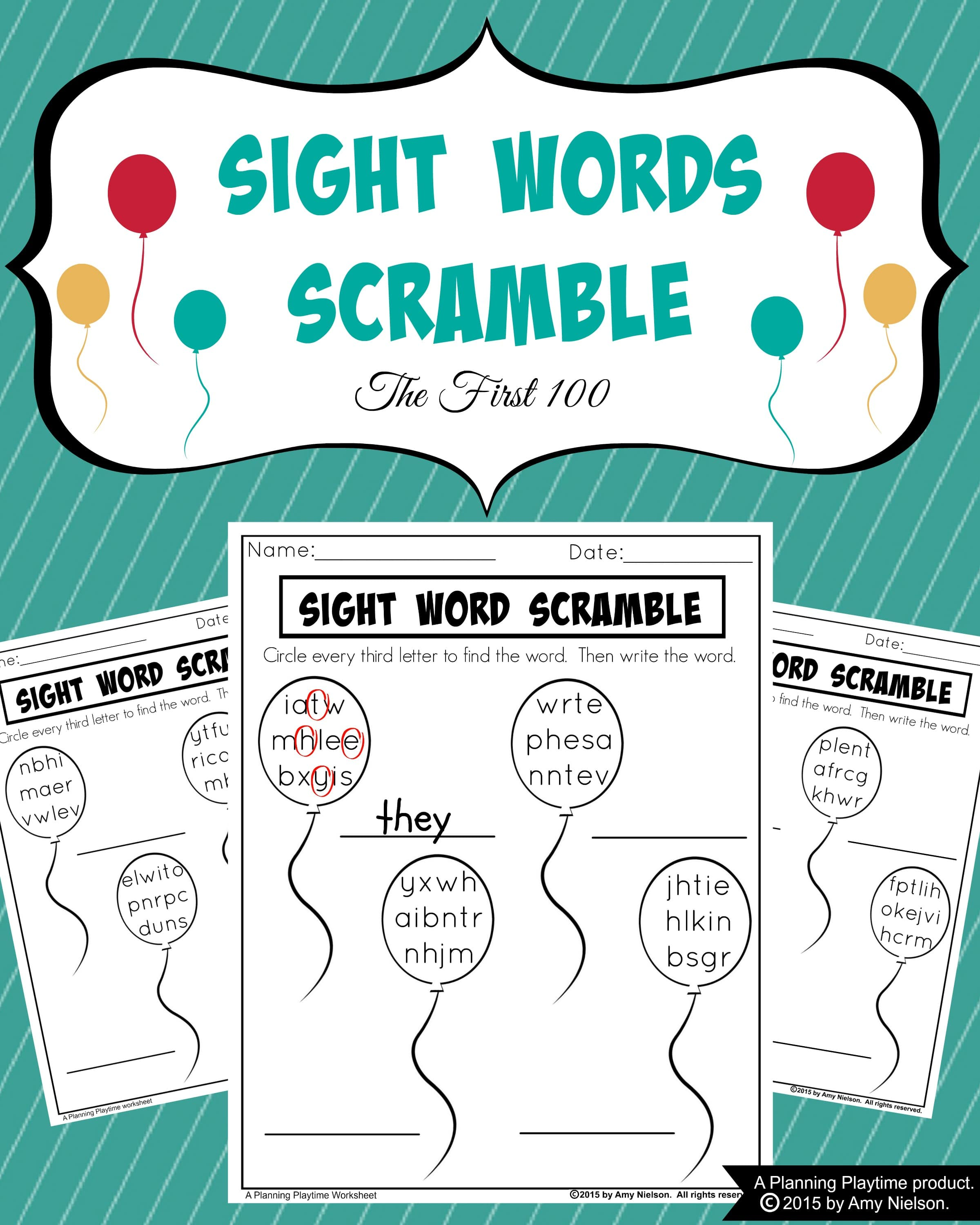 3rd grade sight words theme Free Word Scramble Worksheets 1821544 ...