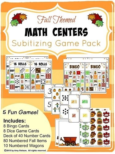 Subitizing Games Fall Math Centers Preview 1
