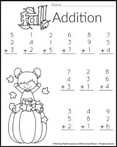 math worksheet : 1st grade math and literacy worksheets with a freebie!  planning  : First Grade Addition Worksheet