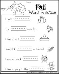 Reading and Writing worksheet for 1st grade.