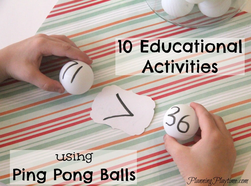 10 Educational Activities using Ping Pong Balls
