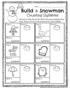 math worksheet : kindergarten math and literacy worksheets for december  planning  : Winter Themed Math Worksheets