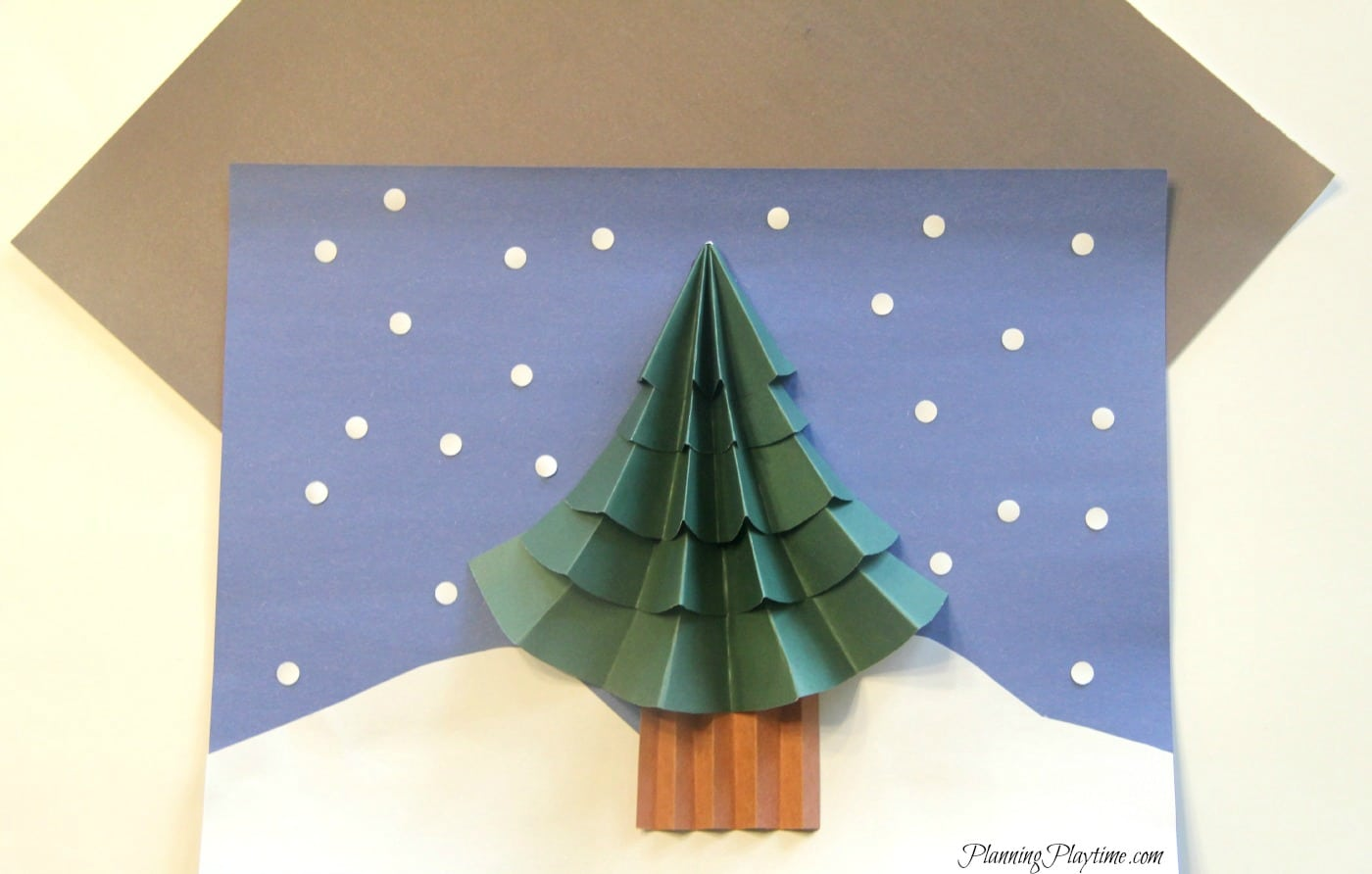 Christmas tree craft for kids planning playtime for Free christmas crafts for kids