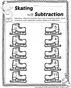 math worksheet : 1st grade december math and literacy worksheets  planning playtime : Winter Math Worksheets First Grade
