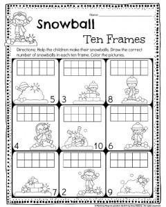 kindergarten math and literacy worksheets for december planning playtime. Black Bedroom Furniture Sets. Home Design Ideas