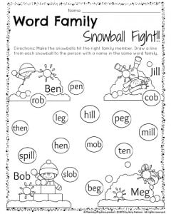 math worksheet : kindergarten math and literacy worksheets for december  planning  : Kindergarten Family Worksheets
