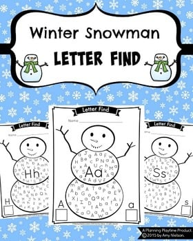 Winter Snowman Letter Find