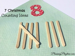 7 Christmas Counting Ideas for preschool - Popcicle sticks for tally marks and other fun ideas.