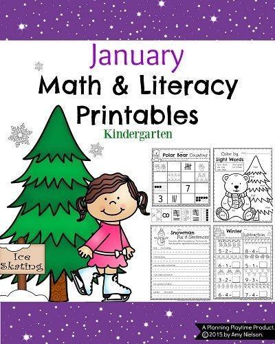 Calendar Practice Worksheets Kindergarten : January kindergarten worksheets