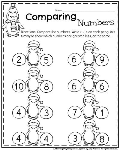 Math worksheet writing numbers free preschool