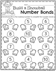 More January Kindergarten Worksheets