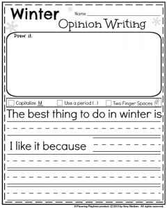Worksheets Writing Kindergarten Worksheets january kindergarten worksheets for winter opinion writing
