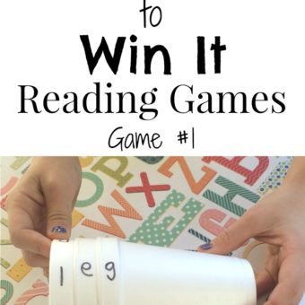 Minute to Win It Reading Game for Kindergarten