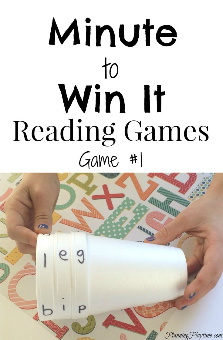 Minute to Win It Reading Game for Kindergarten - Planning Playtime