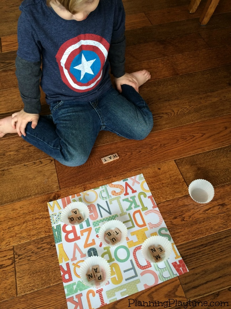 CVC Word Game for Kindergarten