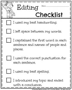 Essay transition words worksheet printable