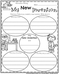 first grade writing prompts for winter planning playtime  first grade informative writing prompt my new invention