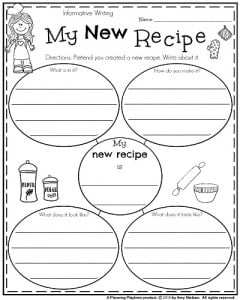 first grade writing prompts for winter planning playtime first grade informative writing prompt my new recipe