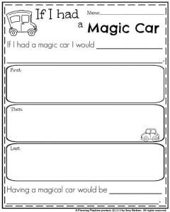 1st grade writing sentences