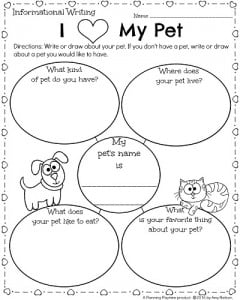 Kindergarten Worksheets for February - Informational Writing Prompt ...
