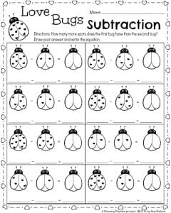 math worksheet : kindergarten math and literacy worksheets for february  planning  : Valentine Worksheets For Kindergarten