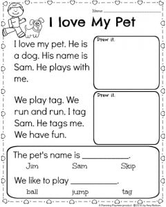 math worksheet : kindergarten math and literacy worksheets for february  planning  : Kindergarten Comprehension Worksheet