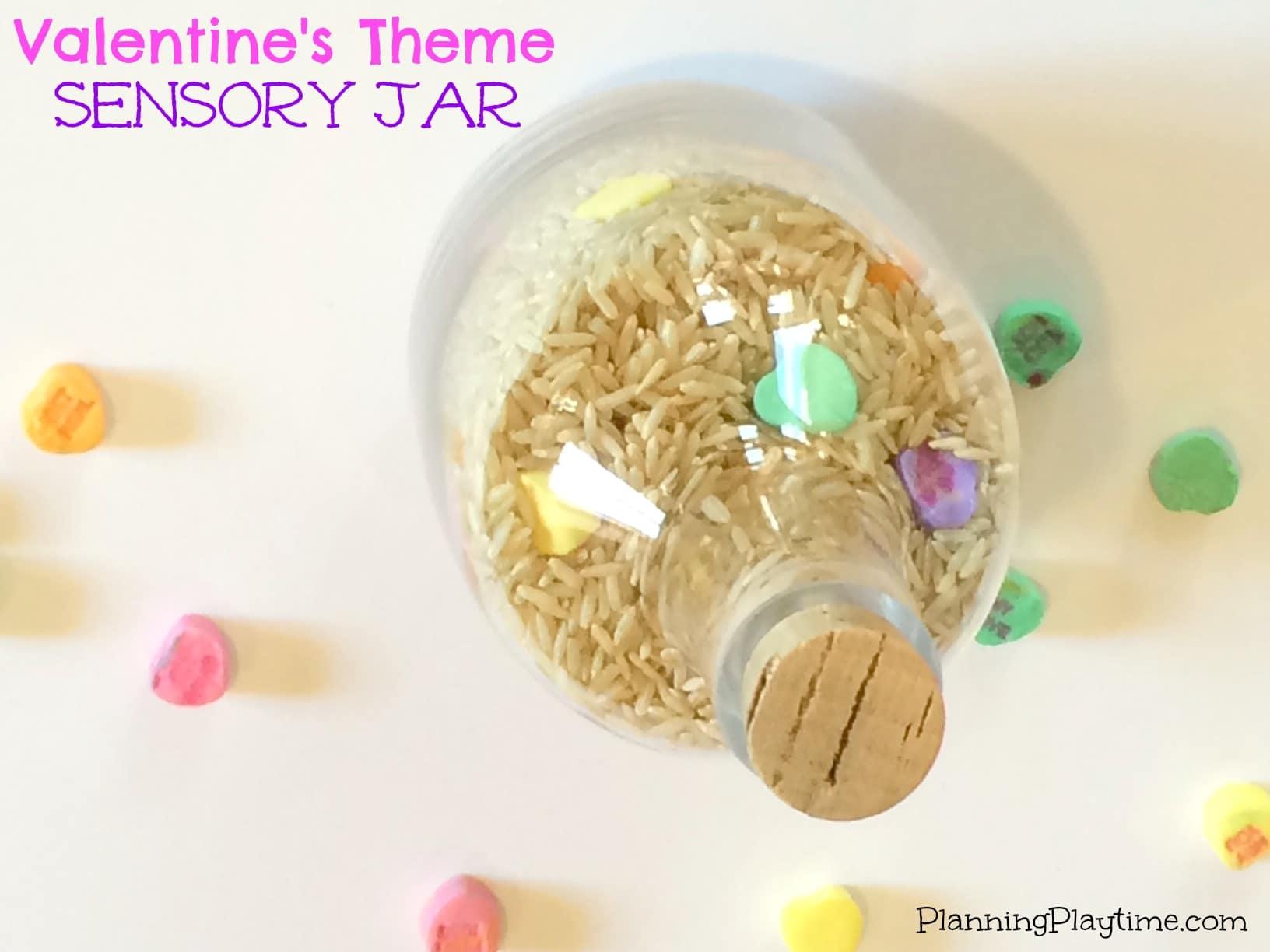 Valentine's Theme Sensory Jar