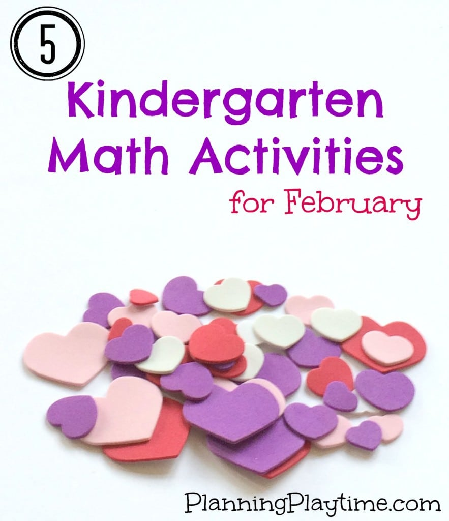 5 Kindergarten Math Activities for February