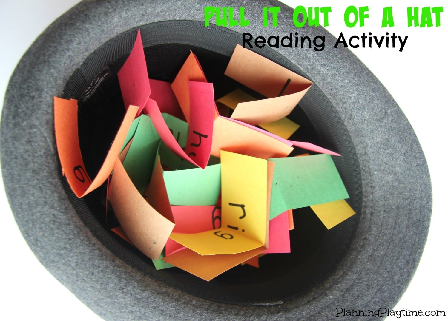 Pull It Out of a Hat Reading Activity for Kids