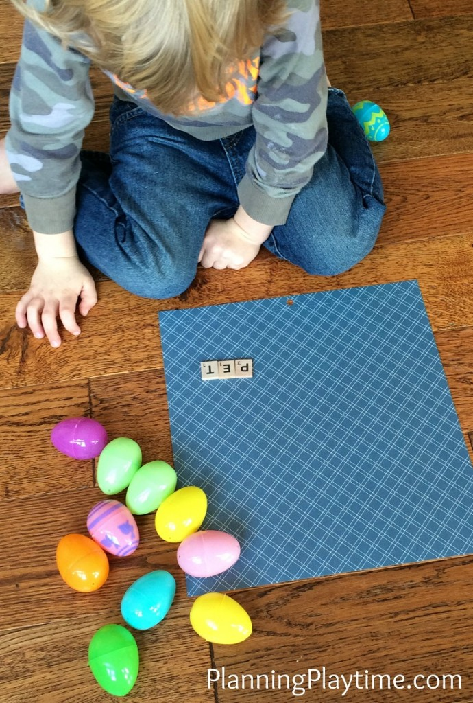 Easter Reading Activity - Find CVC words in Easter Eggs.