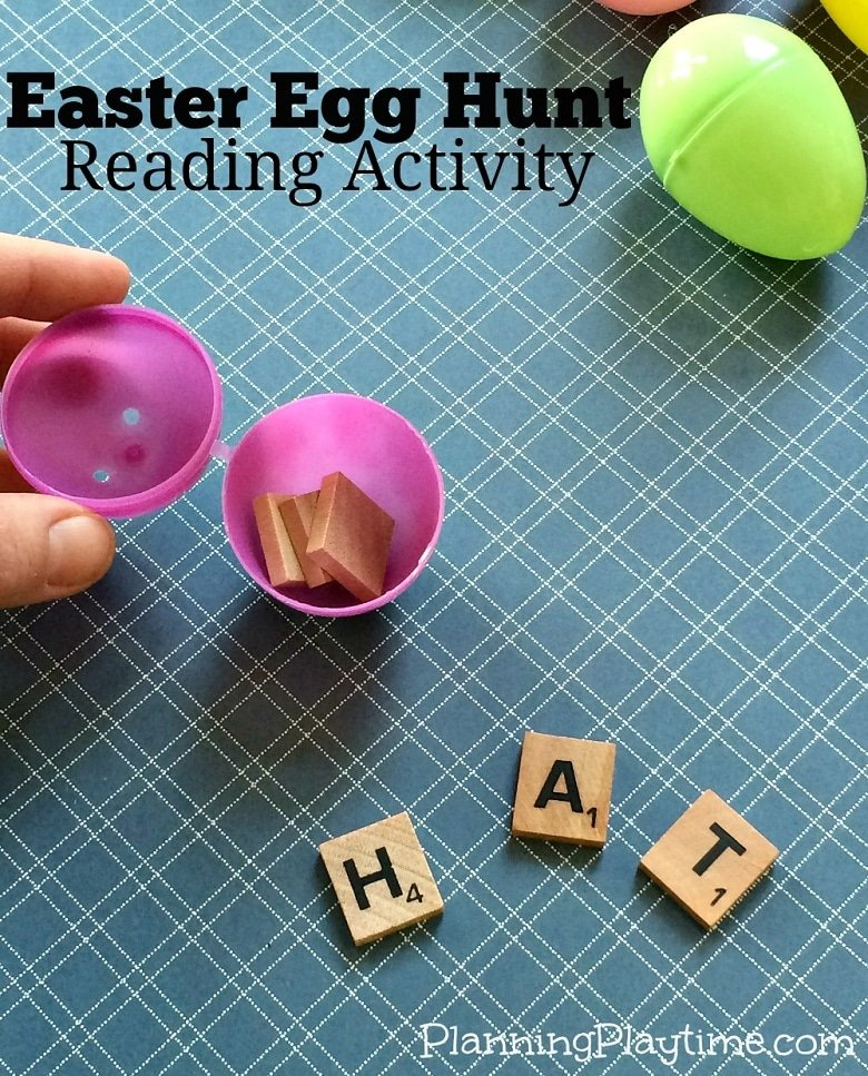 Easter Reading Activity - Hunting for CVC words.