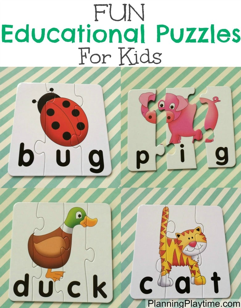Fun Educational Puzzles for kids - Reading, Spelling, and Math.