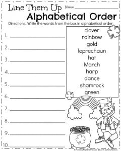 Printables First Grade Worksheets march first grade worksheets planning playtime alphabetical order