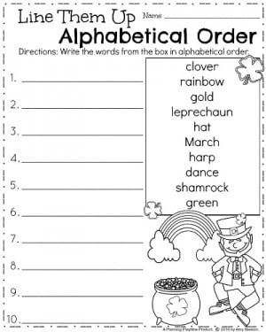 Free educational worksheets for 1st grade